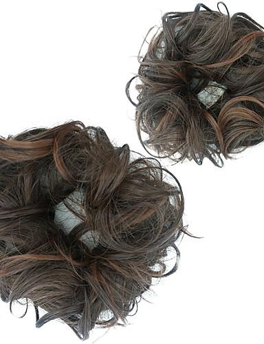 preiswerte Perücken & Haarteile-Chignons / Haarknoten / Haarteil Haarknoten Hitze Resistent Synthetische Haare Haarstück Haar-Verlängerung Dunkelbraun / Dunkel Auburn