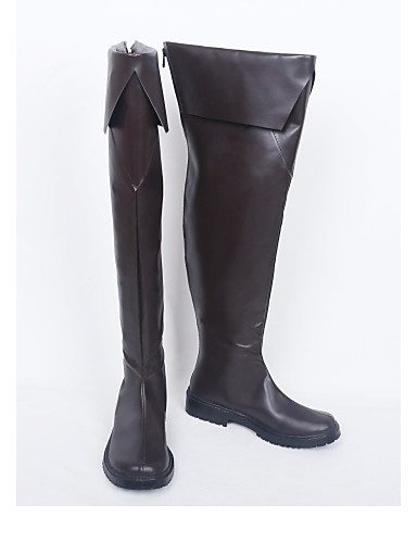 povoljno Anime cosplay-Cosplay Shoes Cosplay Boots Cosplay Cosplay Anime Cosplay Shoes PU koža Umjetna koža/Polyurethane Leather Uniseks