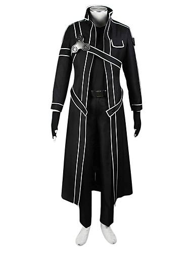 povoljno Anime cosplay-Inspirirana SAO Alicizacija Kirito Anime Cosplay nošnje Japanski Cosplay Suits Jednobojni Kaput / Shirt Za Muškarci / Žene