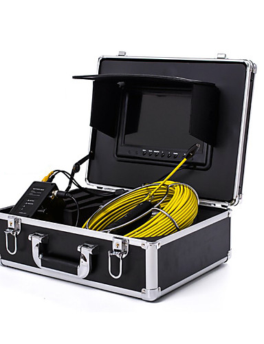 "cheap 8~11-From 70% OFF Electronic Tools-Endoscope Pipeline Inspection System 7"" 20M/30M Drain Sewer Waterproof Camera with 12 LED Lights"