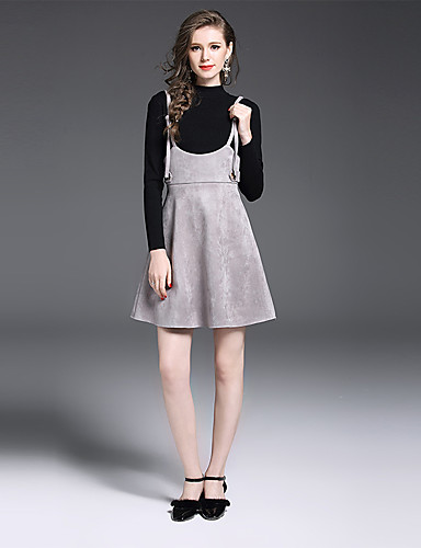 3cdb21b6945c Γυναικείο Πουλόβερ Φούστα Στολές Καθημερινά Δουλειά Εκλεπτυσμένο Μονόχρωμο