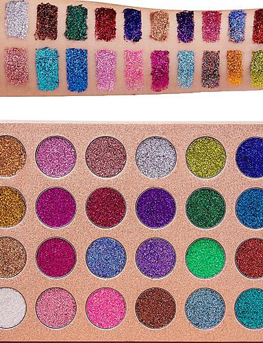 preiswerte Marken Make-up-24 Farben Lidschatten Matt Schimmer Glänzender Schein rauchig Alltag Make-up Halloween Make-up Party Make-up Kosmetikum Geschenk