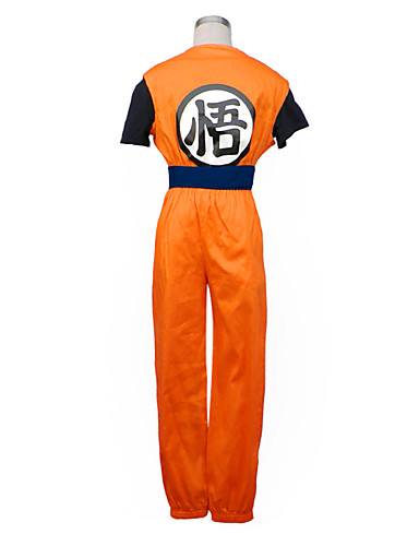 povoljno Anime cosplay-Inspirirana Dragon Ball Goku Anime Cosplay nošnje Japanski Cosplay Suits Kolaž Kratkih rukava Mellény / Hlače / Narukvica Za Muškarci