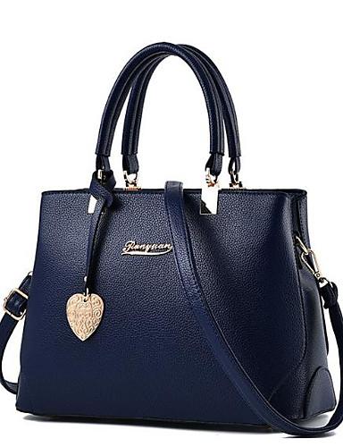 preiswerte Elegante Damen-Handtaschen-Damen Reißverschluss PU Tragetasche Schwarz / Silber Gray / Dunkelrot