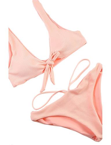 billige Dametopper-Dame Grime Blå Rød Rosa Bikini Badetøy Trykt mønster S M L Blå