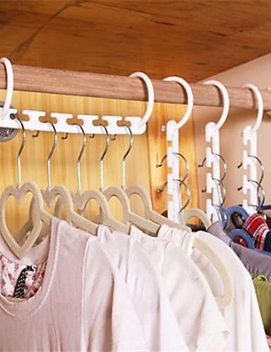preiswerte Bettwäsche-Sets & Kopfkissen-Haushalt Kunststoff sparen Platz rutschfeste Kleiderbügel Multifunktions falten Kleiderbügel Magie Kleiderbügel nützlich