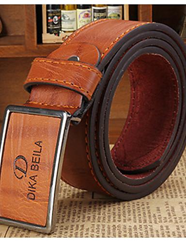 cheap Men's Belt-Men's Party / Work / Active Waist Belt - Solid Colored