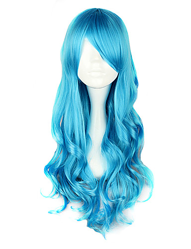 cheap Cosplay Wigs-Cosplay Wigs Women's 28 inch Heat Resistant Fiber Blue Anime / Classic Lolita Dress
