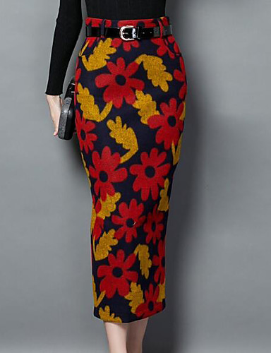 b51cb5de2 Women's Chic & Modern Pencil Skirts - Floral, Print 6329247 2019 – $25.99