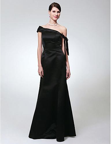 d12ddbc8d Sereia Assimétrico Longo Cetim Frente Única Evento Formal Vestido com Laço(s)  de TS Couture® de 83623 2019 por  109.99