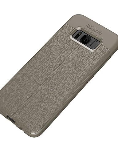 tok Για Samsung Galaxy S8 Plus / S8 / S7 edge Ανάγλυφη Πίσω Κάλυμμα Μονόχρωμο Μαλακή TPU