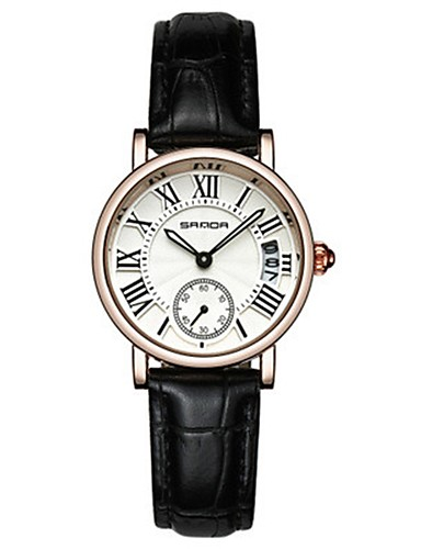 Mulheres Relógio de Moda Relógio de Pulso Relógio Casual Quartzo Couro Banda