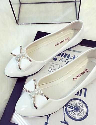 billige Shoes & Bags Must-have-Dame Flate sko Sløyfe Lakklær Ballerina Vår / Sommer Svart / Rosa / Mandel / EU39