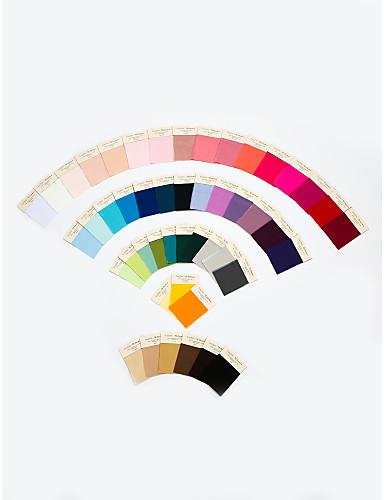 billige Salg-Stoffprøver enkeltfarget i 4 materialer