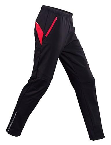povoljno Biciklističke hlače, kratke hlače i tajice-Realtoo Muškarci Žene Biciklističke hlače Zima Runo Crn Bicikl Biciklizam Hulahopke Vjetronepropusnost Podstava od flisa Sportski Brdski biciklizam Odjeća / Rastezljivo