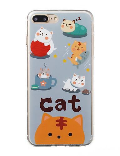 tok Για Apple iPhone 8 Plus / iPhone 8 / iPhone 7 Plus Με σχέδια Πίσω Κάλυμμα Γάτα / Κινούμενα σχέδια Μαλακή TPU