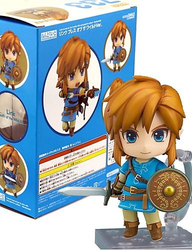 povoljno Anime cosplay-Anime Akcijske figure Inspirirana The Legend of Zelda Link PVC 10 cm CM Model Igračke Doll igračkama