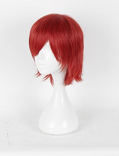 levne Cosplay paruky-Prince of Tennis Hajime Mizuki Cosplay Paruky Pánské Dámské 14 inch Horkuvzdorné vlákno Červená Anime