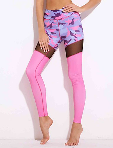 a4acb414437f3 Women's Daily Sports Stitching Print Legging - Solid Colored Floral  Camouflage 6400841 2019 – $14.99