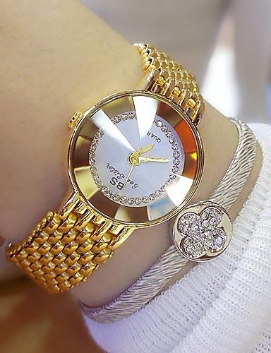 Mulheres Relógio de Pulso Relogio Dourado Japanês Quartzo Aço Inoxidável Prata / Dourada 30 m Analógico senhoras Amuleto - Dourado Prata