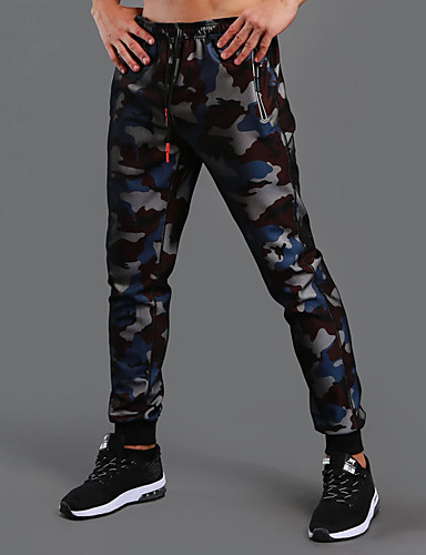 cheap Massive Clearance Sale-Men's Running Pants Track Pants Sports Pants Athletic Pants / Trousers Athleisure Wear Bottoms Drawstring Cotton Fitness Gym Workout Workout Exercise Sport Black Red Blue Camouflage Camo / Camouflage