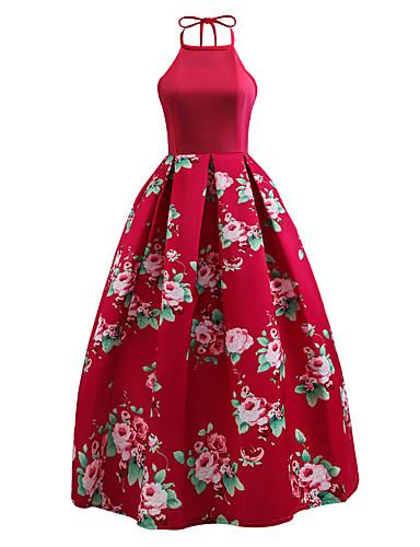 Damen Party Ausgehen Retro Street Schick Swing Kleid ...