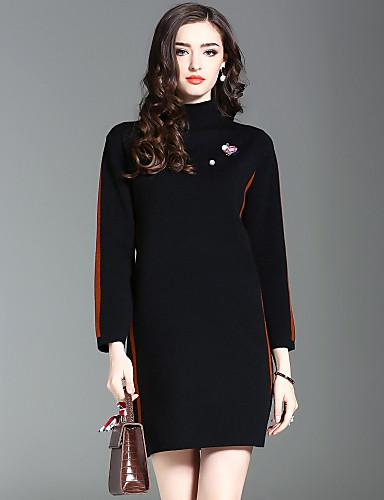 1e79e5a869f8 Γυναικείο Εξόδου Καθημερινά Κομψό στυλ street Πλεκτά Φόρεμα ...