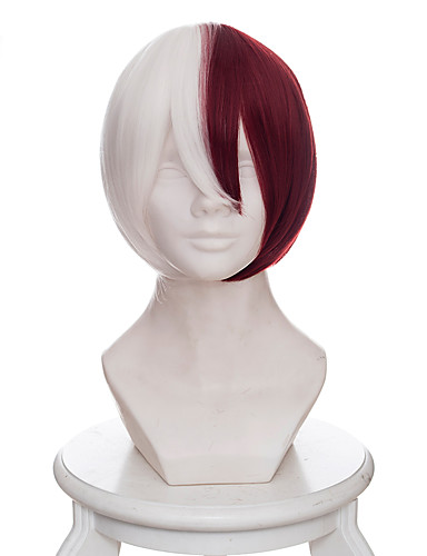 voordelige Cosplay Pruiken-My Hero Academy Battle For All / Boku No Hero Academia Todoroki Shoto Cosplaypruiken Heren 14 inch(es) Hittebestendige vezel Anime