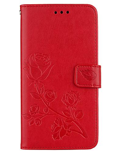 tok Για Samsung Galaxy J7 (2016) / J5 (2016) / J3 (2016) Πορτοφόλι / Θήκη καρτών / με βάση στήριξης Πλήρης Θήκη Λουλούδι Σκληρή PU δέρμα