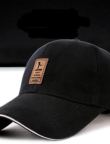abordables Casquettes de Baseball-Homme Casquette de Baseball Coton Couleur Pleine Tendance Printemps, Août, Hiver, Eté Noir