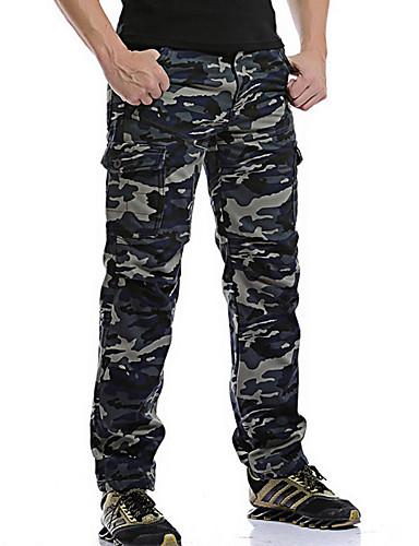 fc057665db981 [$64.34] Homme Grandes Tailles Coton Pantalons / Chino Pantalon -  camouflage Bleu 34 / Hiver