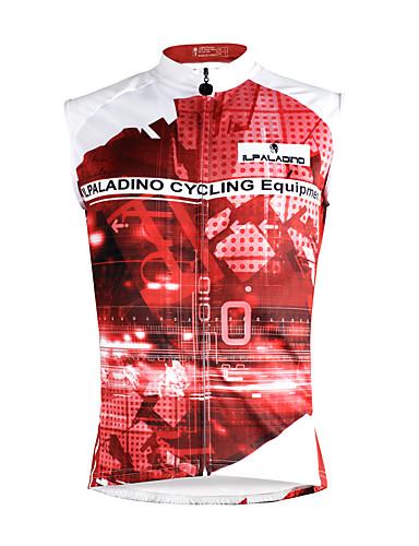 povoljno Biciklističke majice-ILPALADINO Muškarci Bez rukávů Biciklistička majica Tamno roza Duga Bicikl Mellény Biciklistička majica Potkošulja Brdski biciklizam biciklom na cesti Quick dry Sportski Neljepljivo Polyester 100