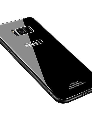 Capinha Para Samsung Galaxy S8 Plus / S8 Ultra-Fina Capa traseira Sólido Rígida Vidro Temperado