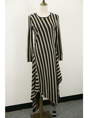 f2f2bfb4c7ce Γυναικείο Καθημερινά Κομψό στυλ street Πλεκτά Φόρεμα
