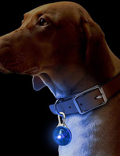 preiswerte Haustierzubehör-Katze Hund Halsbänder Schilder LED-Lampen Sicherheit Solide Kunststoff Grün Blau Rosa