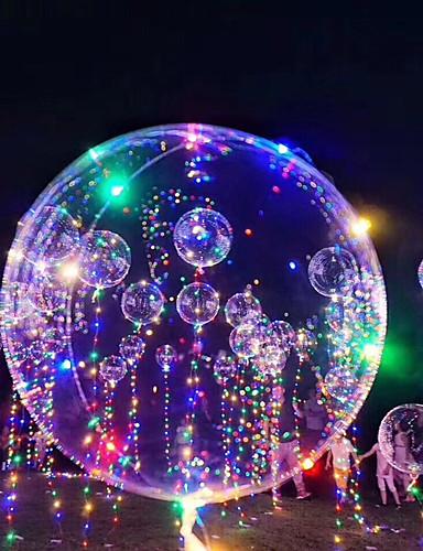 preiswerte FORBABYKIDS-3M 18Inch LED - Beleuchtung Ballons LED-Ballon Urlaub Romantik Geburtstag Beleuchtung Nachfüllbar Im Dunkeln leuchtend Kinder Erwachsene Jungen Mädchen Spielzeuge Geschenk 1-15 pcs / Neues Design