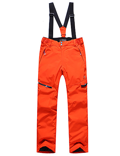 cheap Ski & Snowboard-Phibee Men's Ski / Snow Pants Ski / Snowboard Winter Sports Waterproof Windproof Warm Polyester Pants / Trousers Bib Pants Ski Wear