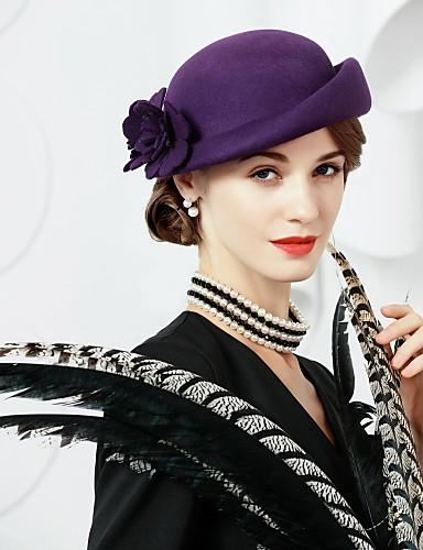 preiswerte Damenhüte-Wolle Kentucky Derby-Hut / Hüte mit 1 Hochzeit / Party / Abend Kopfschmuck