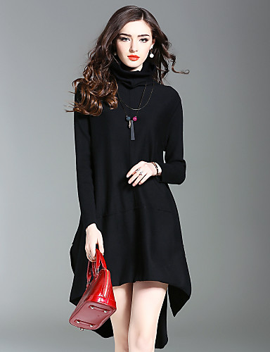 26dbf2487a91 Γυναικείο Εξόδου Καθημερινά Κομψό στυλ street Πλεκτά Φόρεμα ...