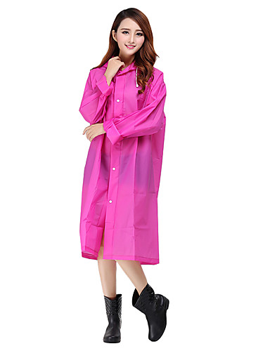 cheap Softshell, Fleece & Hiking Jackets-Women's Hiking Raincoat Outdoor Waterproof Windproof Breathable Winter Raincoat Camping / Hiking Hunting Fishing Rose Red Violet Transparent M L XL