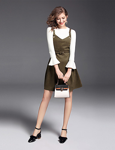 39765fcecf4b Γυναικείο Πουλόβερ Φορέματα Στολές Καθημερινά Δουλειά Εκλεπτυσμένο Μονόχρωμο