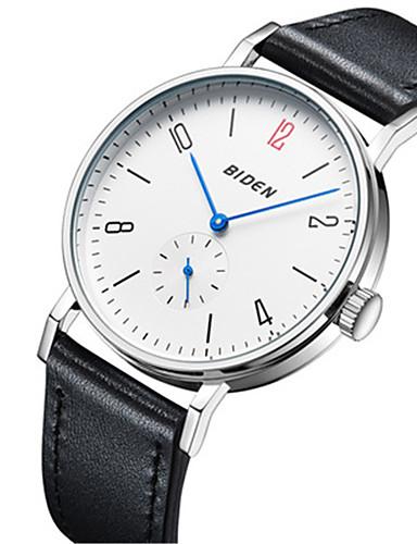 85a30b89fc36 BIDEN Men s Wrist Watch Japanese Quartz Casual Watch Leather Band Analog  Casual Fashion Elegant Black   Brown - Black   Brown Black   White White    Brown ...