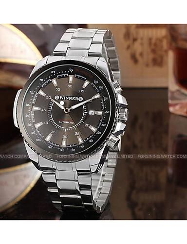 WINNER Férfi Ruha óra Karóra mechanikus Watch Automatikus önfelhúzós Naptár Rozsdamentes  acél Zenekar Alkalmi Menő Ezüst 6390636 2018 –  24.99 bc03b16648