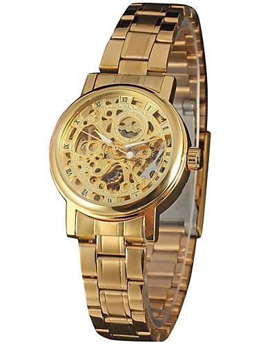 0c94014c958 WINNER Mulheres Automático - da corda automáticamente Relógio de Pulso  Gravação Oca Aço Inoxidável Banda Vintage   Casual   Elegant   de 6377564  2018 por ...