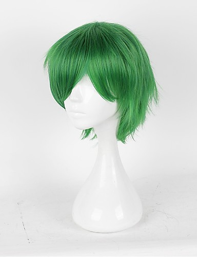 levne Cosplay paruky-Prince of Tennis Hajime Mizuki Cosplay Paruky Pánské Dámské 14 inch Horkuvzdorné vlákno Zelená Anime