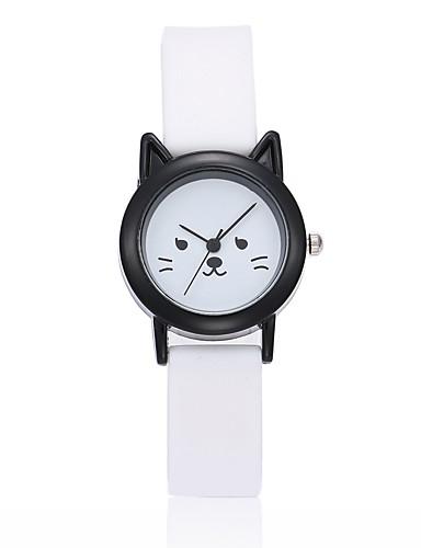 9fa30c82 Armbåndsur Quartz Silikon Svart / Hvit Analog damer Unikt kreativt ur ...