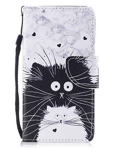 tok Για Samsung Galaxy A3 (2017) / A5 (2017) Πορτοφόλι / Θήκη καρτών / με βάση στήριξης Πλήρης Θήκη Γάτα Σκληρή PU δέρμα