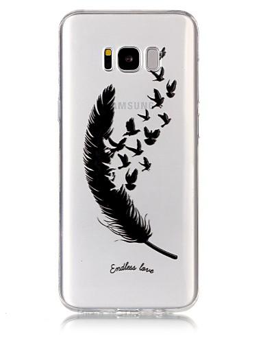 tok Για Samsung Galaxy S8 Plus / S8 / S7 edge Εξαιρετικά λεπτή / Διαφανής / Ανάγλυφη Πίσω Κάλυμμα Φτερά Μαλακή TPU