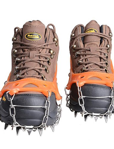 cheap Ski & Snowboard-Traction Cleats Crampons Outdoor Sticky Non-Slippery Metal Alloy Rubber Climbing Outdoor Exercise Orange