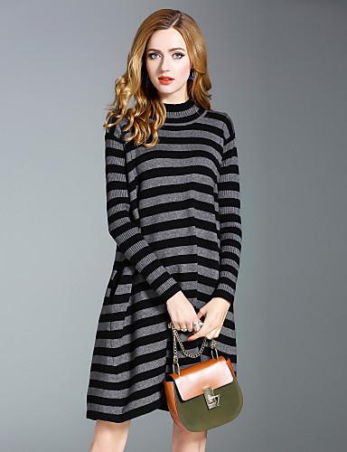 0a94f967ce5e Γυναικείο Εξόδου Καθημερινά Κομψό στυλ street Πλεκτά Φόρεμα